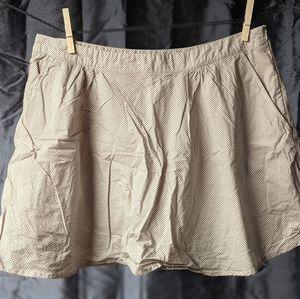 Hiking Polka Dot Skirt 3 Pockets Sz L Shorts Liner